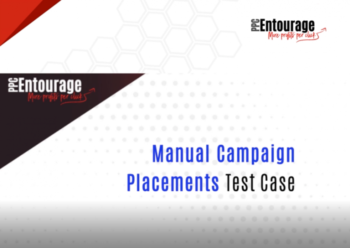 Manual Campaign Placement Test Case